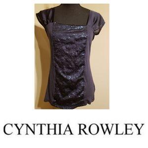 Cynthia Rowley | Blue Sparkly Top